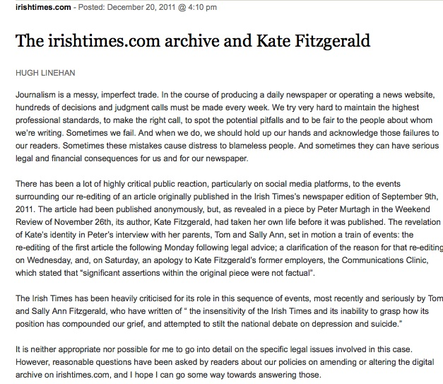 The Irish Times Online Archive