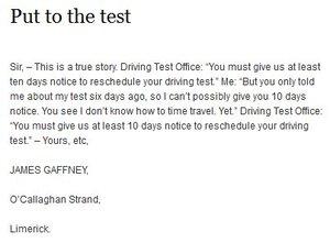 Driving Test | Broadsheet ie